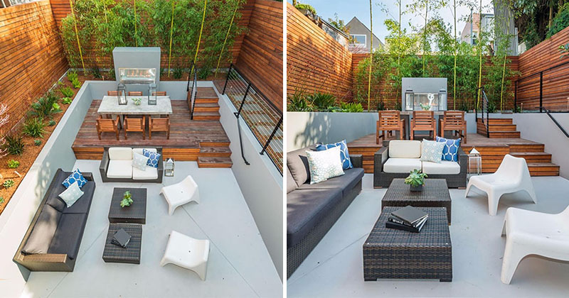 Backyard Design Idea   Use Multiple Levels To Define Different Areas Of  Your Backyard | CONTEMPORIST
