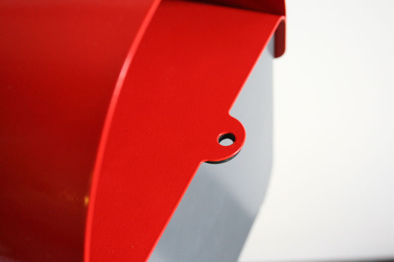 Modern Mailbox Design Ideas - Made of stainless steel and available in 4 color options, the simple and modern mailbox adds a pop of color to the exterior of your home and makes checking the mail feel like less of a chore.