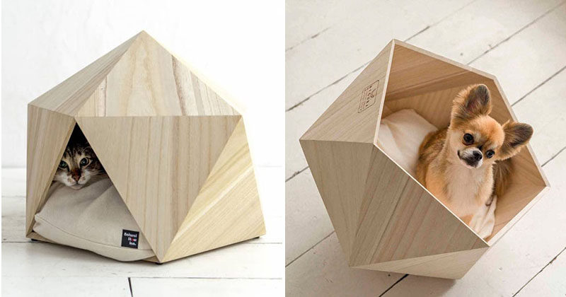 This Small Unique And Modern Pet Bed Made From Wood Is The Perfect Cave For  Your
