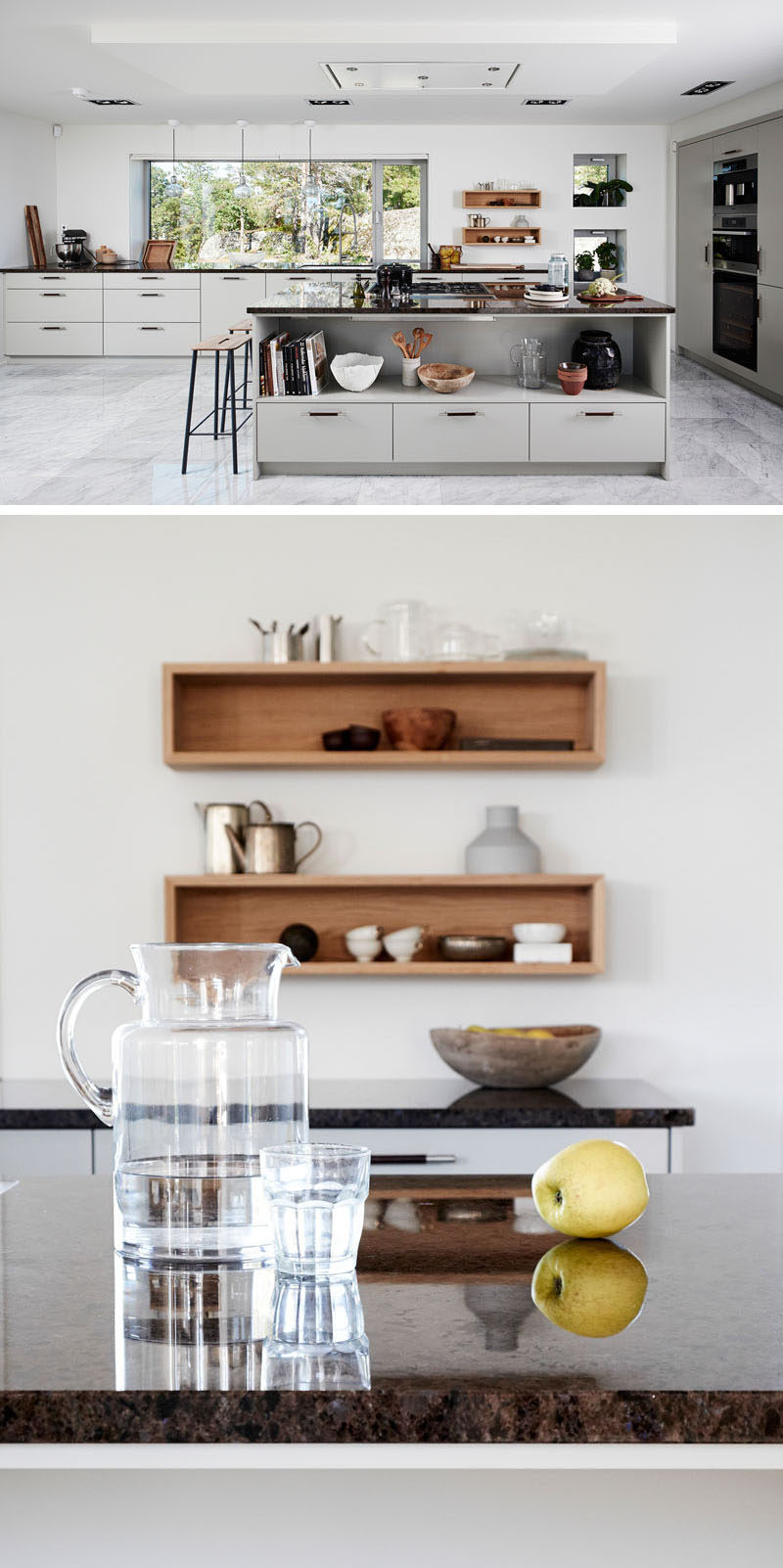 5 Reasons Why You Should Use Natural Stone For Your Interior Spaces / In the kitchen, a natural stone countertop is a great food prep surface, and when combined with either light or dark kitchen cabinetry, it can stand out to create a luxurious look.