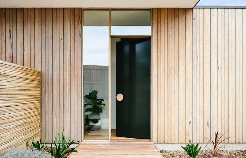 Front Door Design Idea Use An Oversized Circular