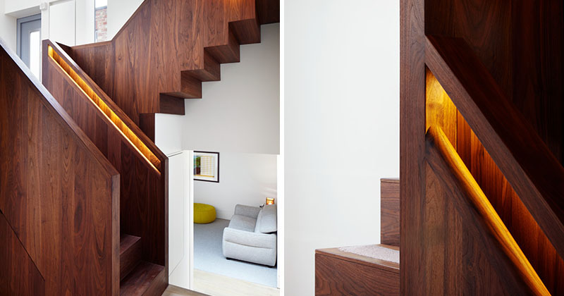 Hidden Handrail Lighting Is A Creative Idea For A