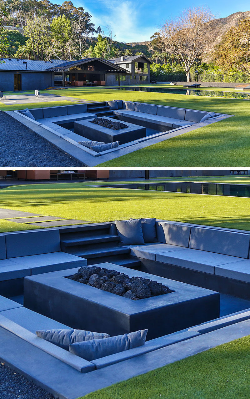 backyard design idea create a sunken fire pit for entertaining