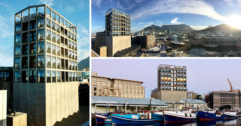 The Royal Portfolio are launching their latest venture, The Silo, a hotel in Cape Town, South Africa, that's been designed by Heatherwick studio. The hotel was once a grain silo from the 1920's, that stored grain from all over South Africa, before heading on boats to Europe. now it's an contemporary hotel with an industrial touch.