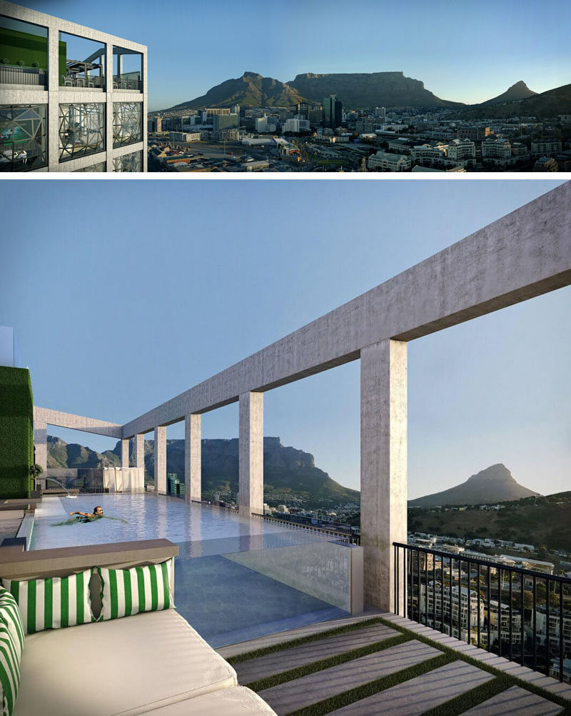 This rooftop swimming pool will set atop The Silo, a hotel in Cape Town, South Africa.