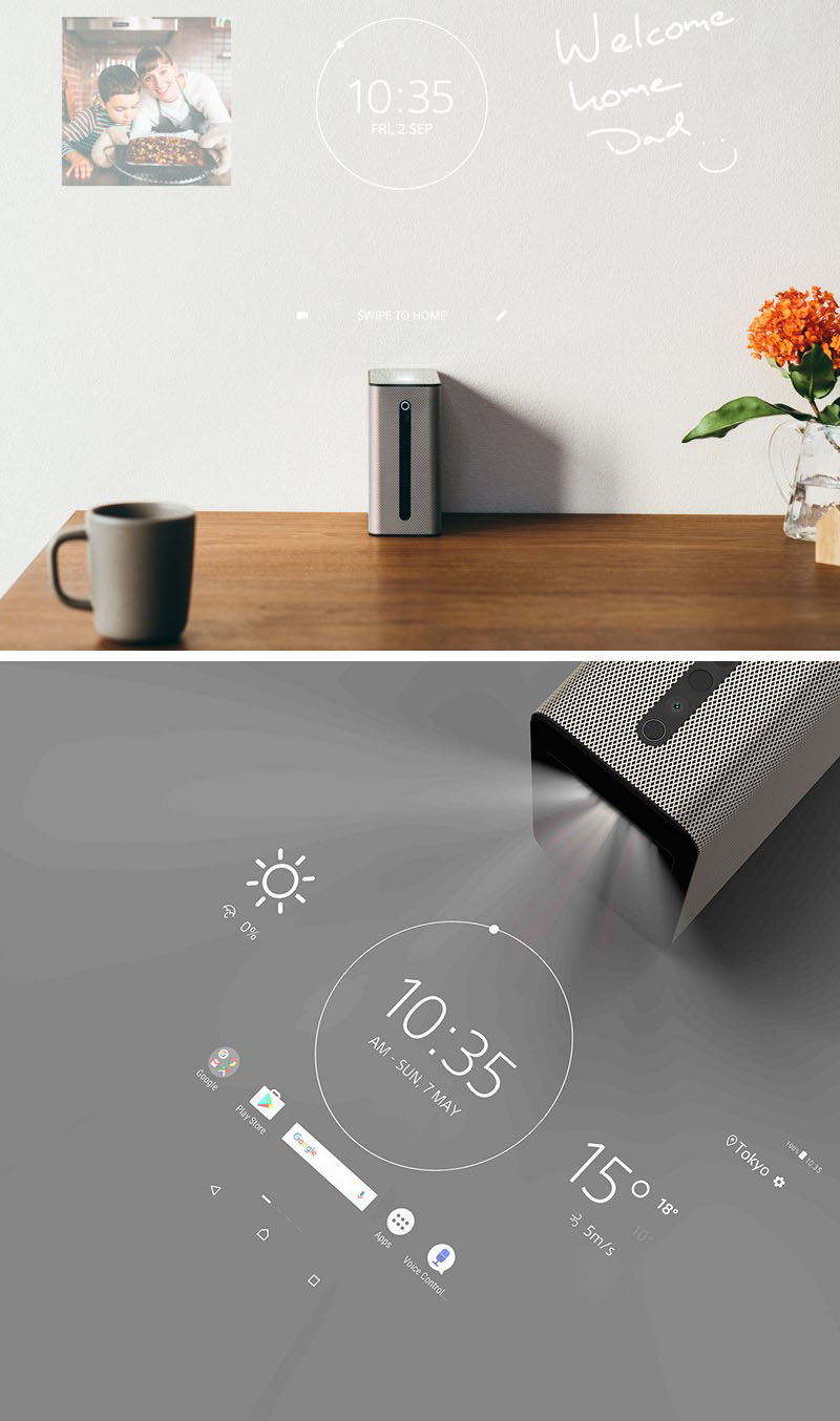 The Xperia Touch by Sony, is a projector that's powered by Android software, that turns any surface into an interactive 23 inch touchscreen.