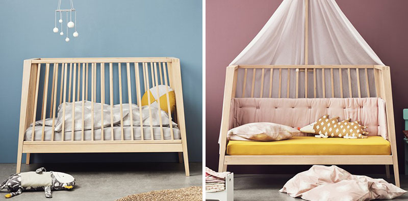 This Baby Cot Is Designed To Transform Into A Bed And