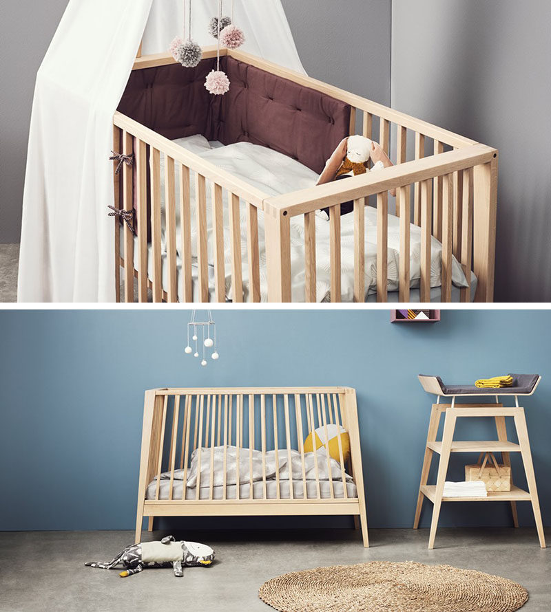 This Transitional Modern Nursery Furniture Is Baby Cot That Transforms Into A Small Day Bed Or