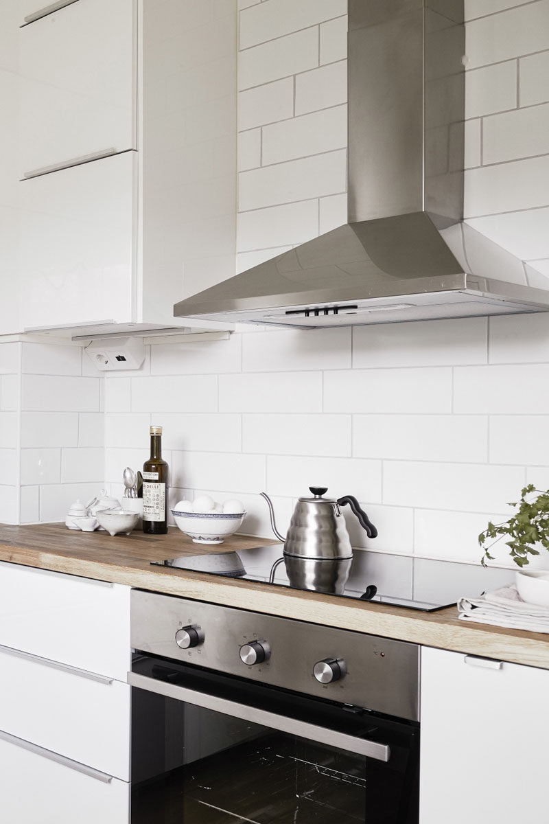 Kitchen Design Ideas - 9 Backsplash Ideas For A White Kitchen // Add Texture With White Subway Tiles - If you want to keep the all white look going but want just a bit of texture white subway tiles with a light grout could be a way to achieve the kitchen of your dreams.