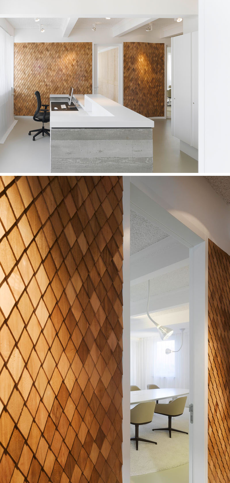 Wood Wall Cladding: Using Wood Shingles To Create An Accent Wall Adds Warmth
