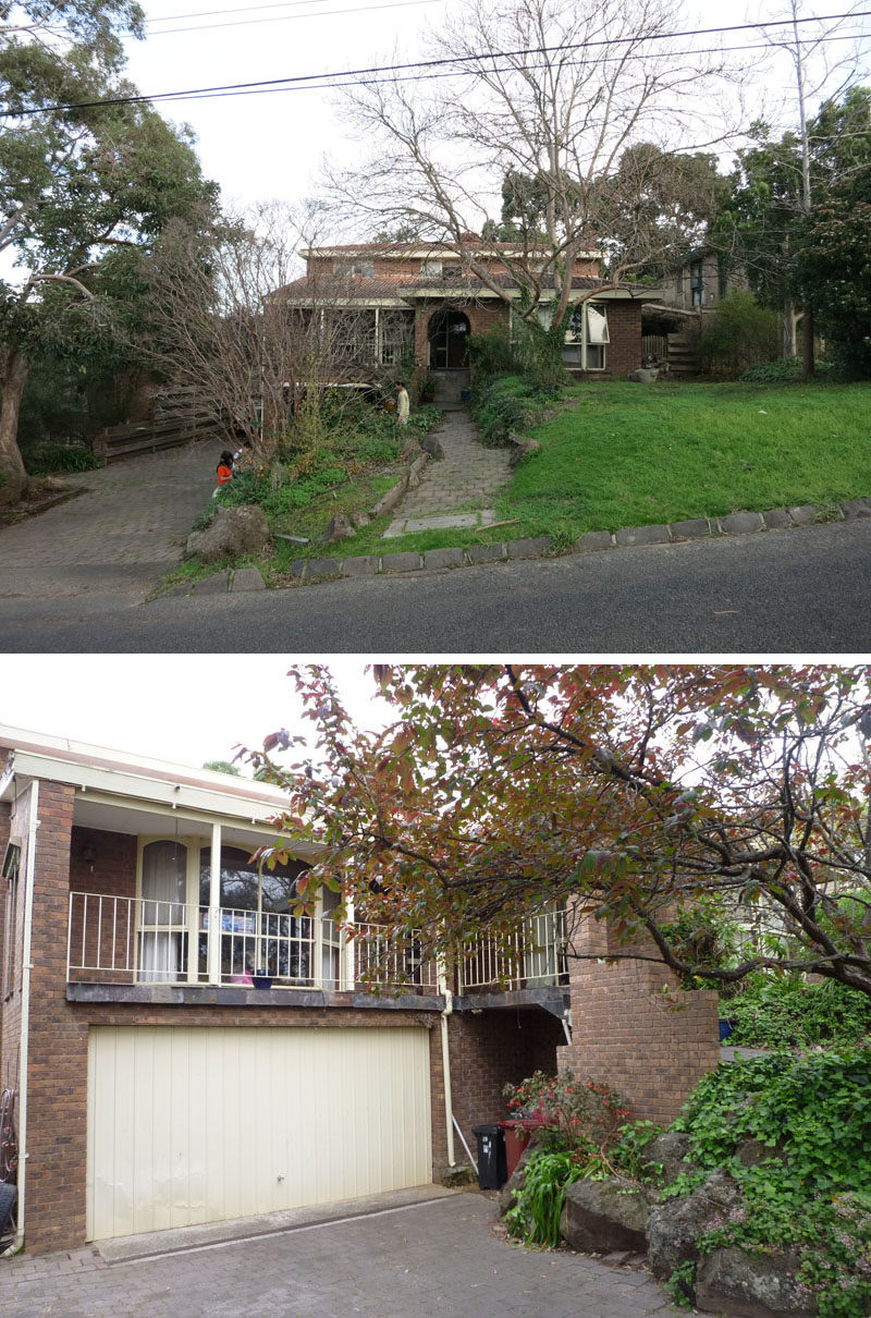 These are the before photos of an old 1970's Australian brick house that was updated into a modern, bright and airy home.
