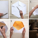 Create Your Own Modern Geometric Paper Lampshade With This DIY