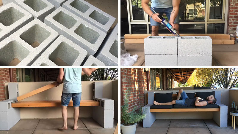 Make Your Own Inexpensive Outdoor Furniture With This Diy Concrete Block Bench Contemporist