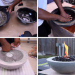 Make Your Own DIY Outdoor Concrete Fire Bowl