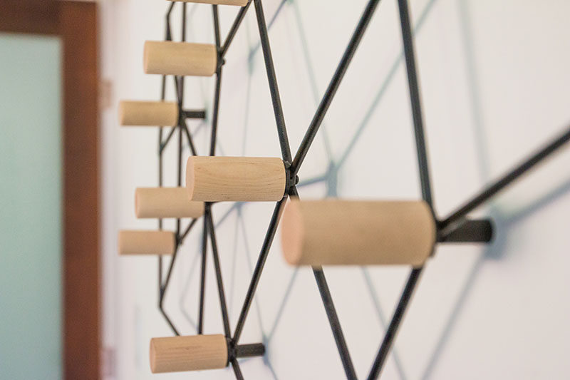 Geometric Wall Art this geometric coat rack could also double as wall art | contemporist