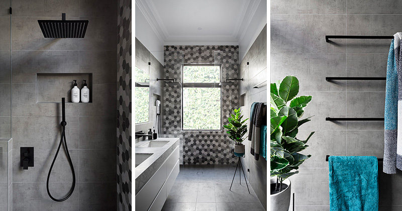 Gia Renovations Have Created A Modern Grey And White Bathroom With Black Accents That Proves