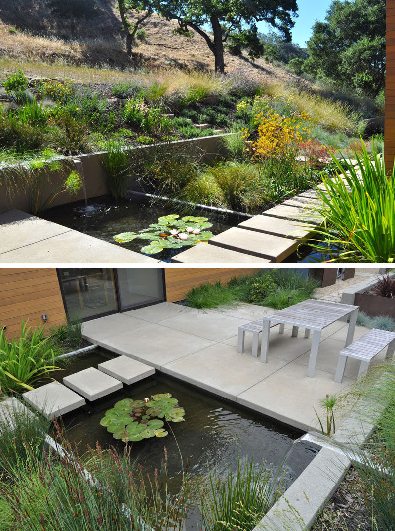 8 landscaping ideas for backyard ponds and water gardens for Outdoor pond