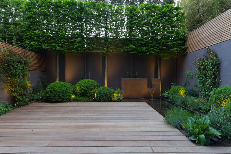 8 landscaping ideas for backyard ponds and water gardens for Terrace landscape design
