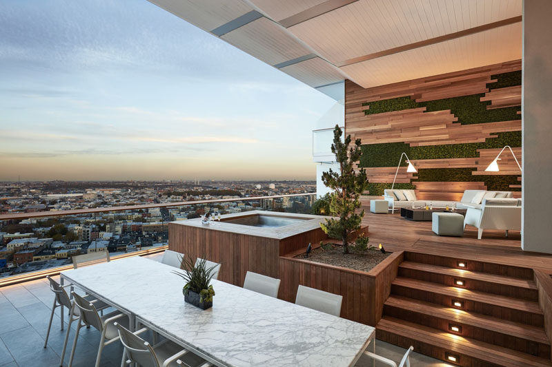 This Balcony With Views Of Brooklyn Was Designed For