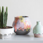 Brian Giniewski Ceramics Has Created A Collection Of Rainbow Drip Vessels