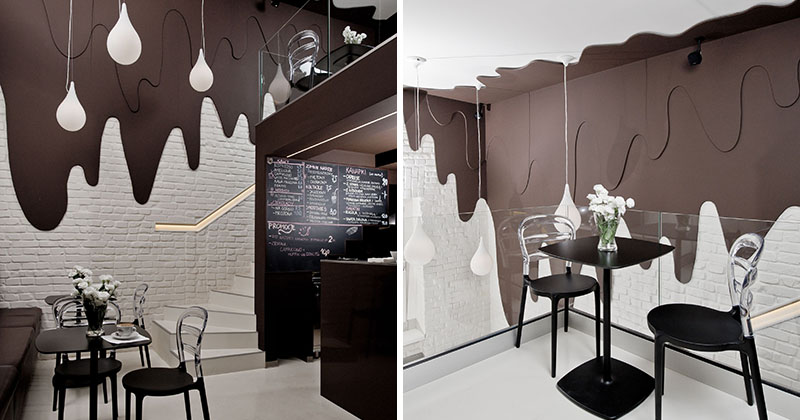 This Chocolate Shop And Cafe Has Walls Of Dripping Chocolate Contemporist