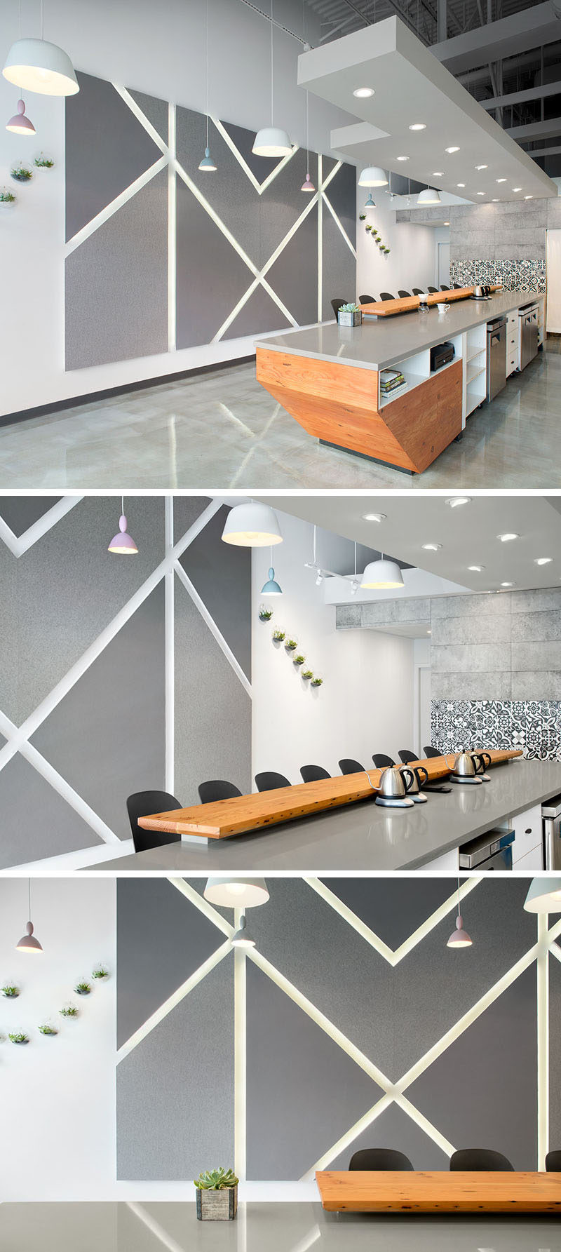 Contemporist this modern coffee shop has a palette of for Modern coffee bar design