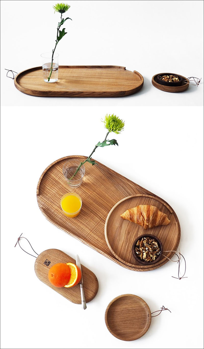 "These versatile ""Flip"" trays can be used as cutting boards, serving trays, as well as decorative trays to meet all of your entertaining needs."