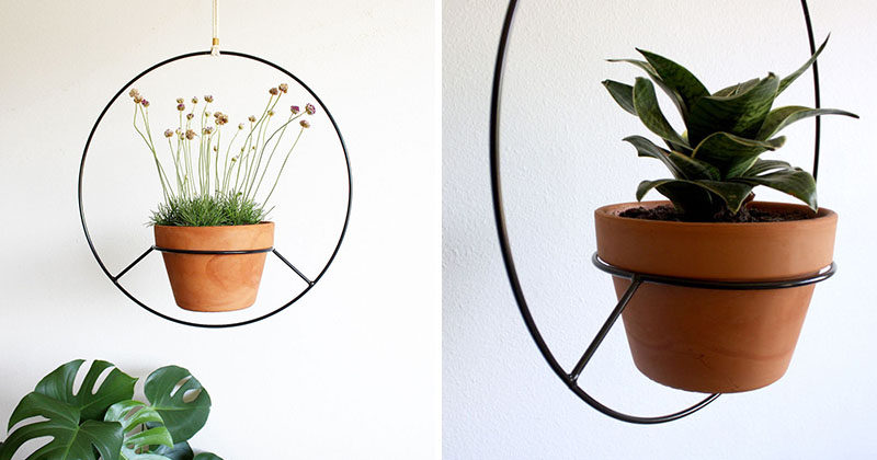These Hanging Planters Are Designed To Put A Distinct Focus On Your