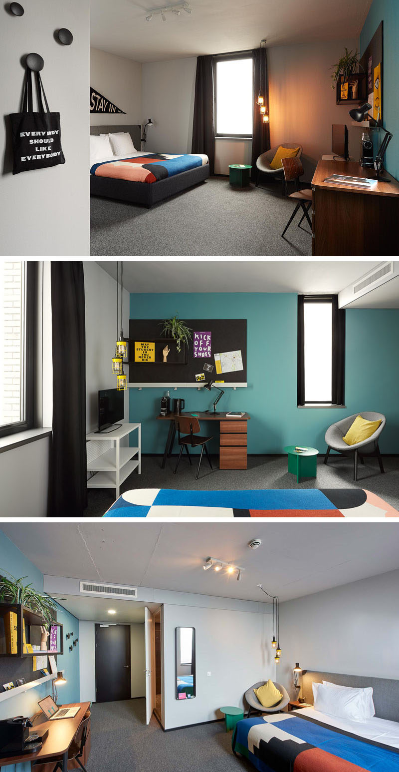 Hotel Room Blueprint: 20 Pictures Of The New Student Hotel In Eindhoven, The
