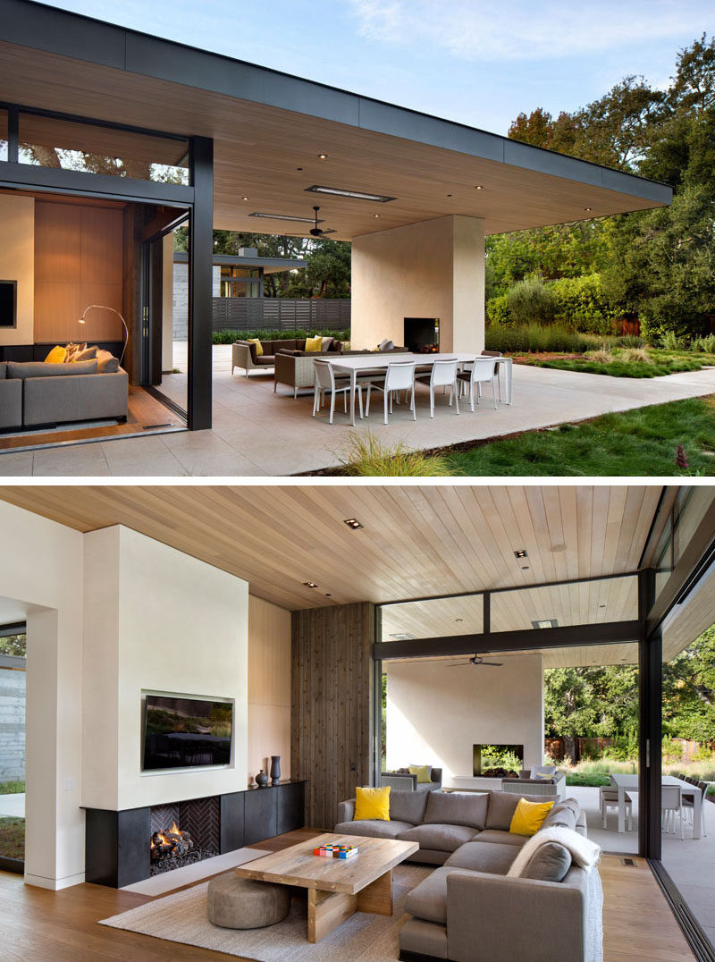 The House Has Been Designed To Enable Indoor/outdoor Living With The  Inclusion Of Sliding Glass Doors That Open Up The Living Room To The  Covered Outdoor ...