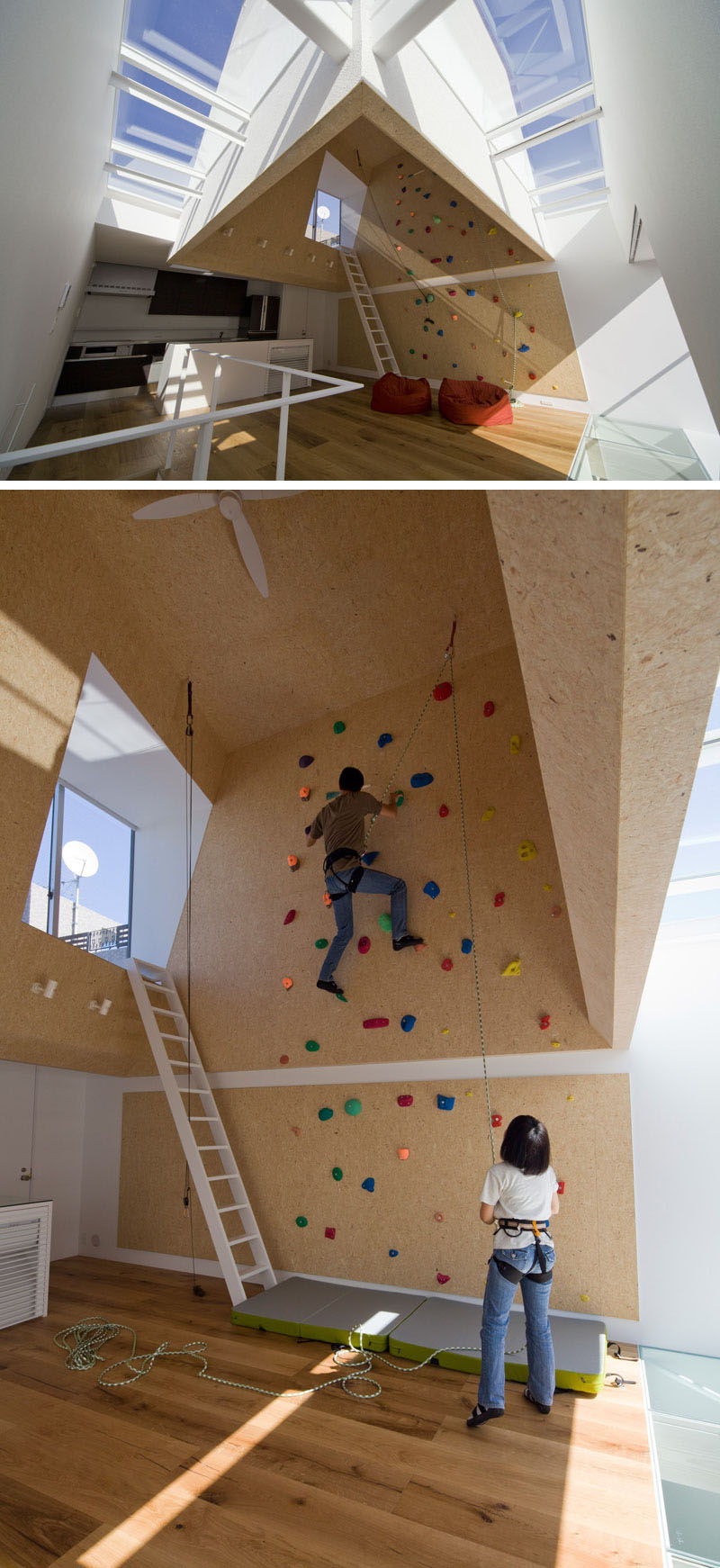 22 awesome rock climbing wall ideas for your home your for Home climbing