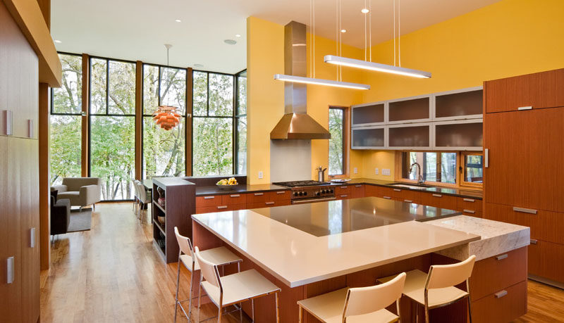 This Modern Wood House Was Designed For A Family To Live Beside A Lake In Minnesota Contemporist