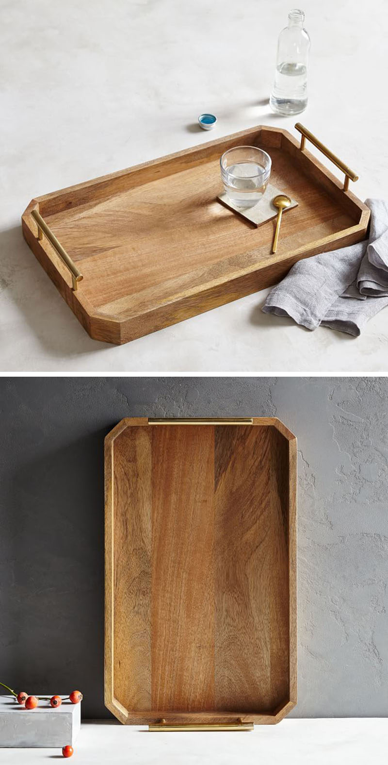 11 decorative wood trays to add a natural touch to your