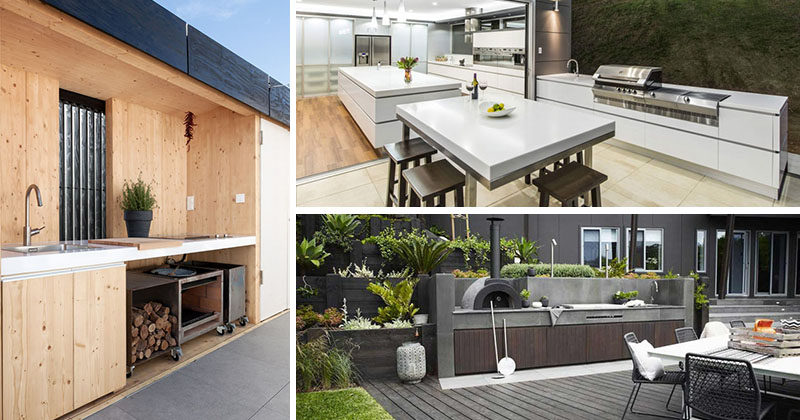Here are 7 ideas for creating the perfect modern outdoor kitchen that will serve you both in the coming spring and summer months, but that can also be used year round should you feel so inclined.