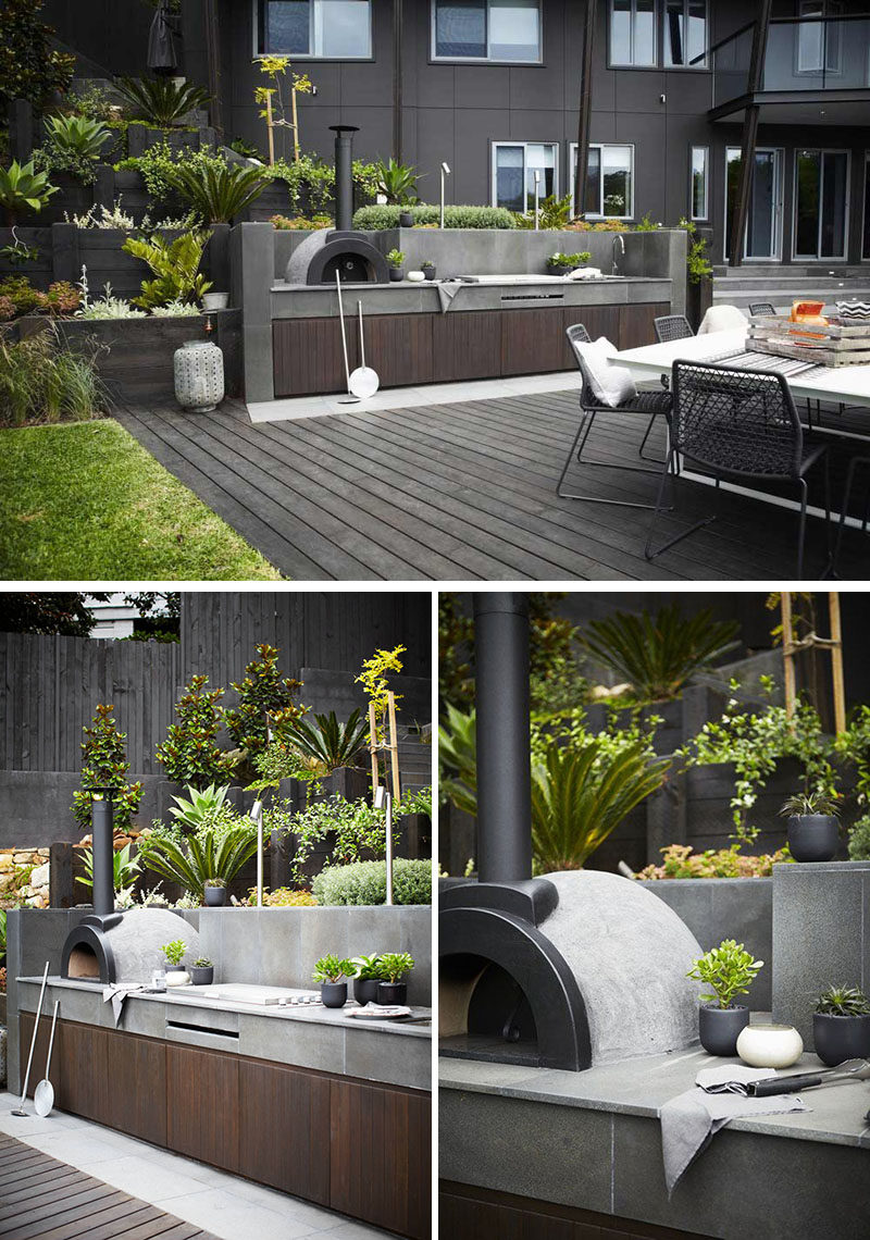 Including A Wood Fired Oven In Your Modern Outdoor Kitchen Will Let You  Cook A Range