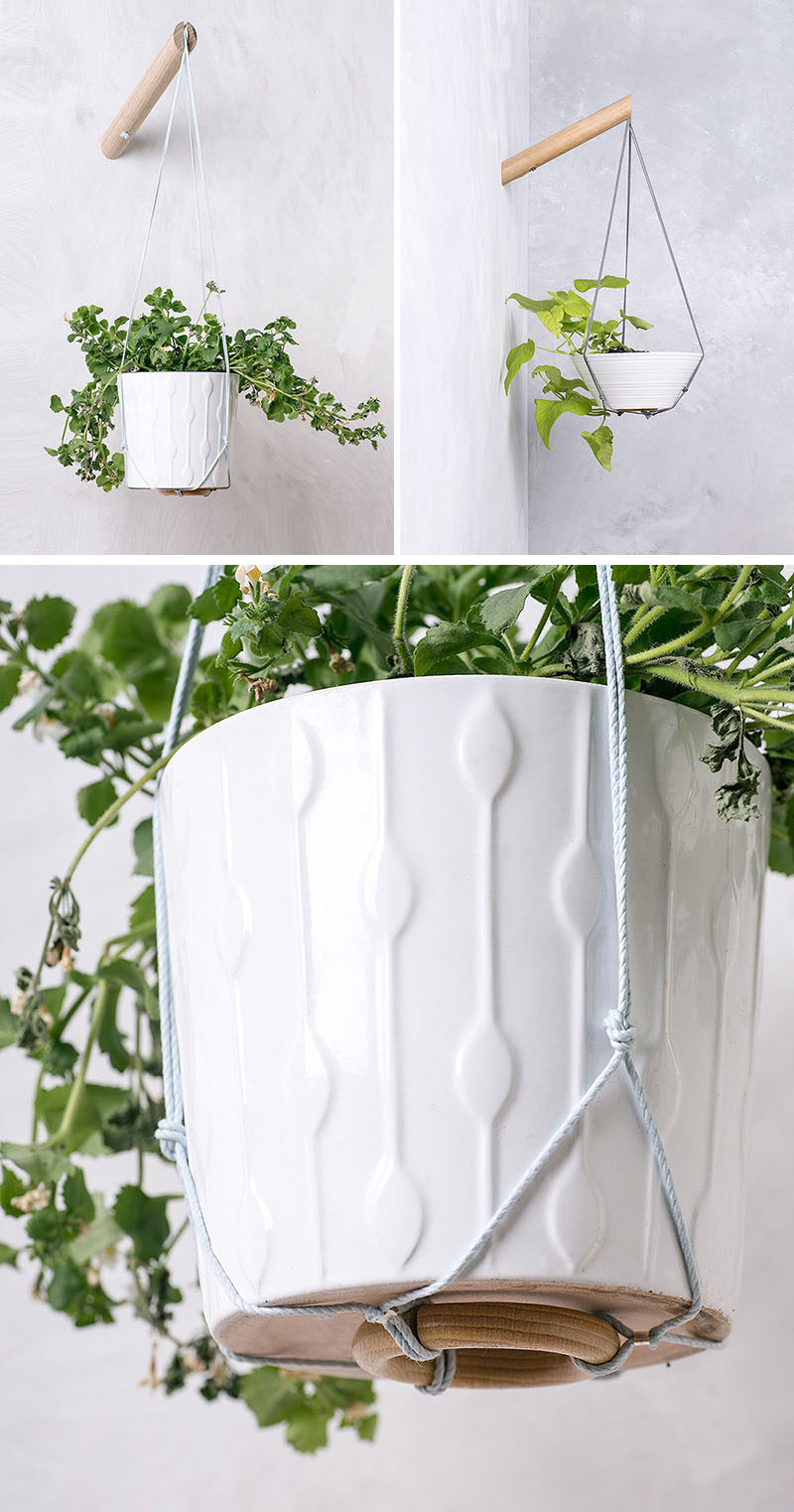 These Wall Planters Allow You Have Hanging Plants Wherever Want Them Simply By Attaching To A Wood Pole Mounted The