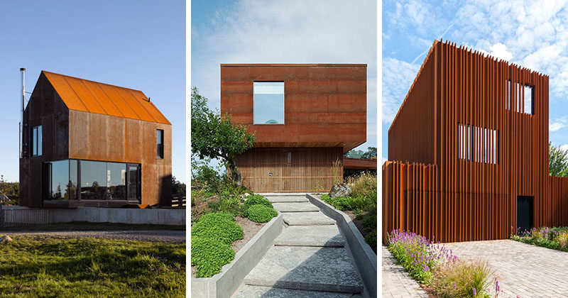 Here Are 13 Modern Houses That Are Clad In Weathering Steel To Create  Texture, Add