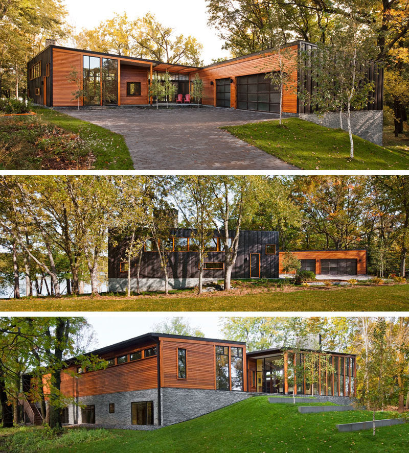 Wood And Stone House this modern wood house was designed for a family to live beside a