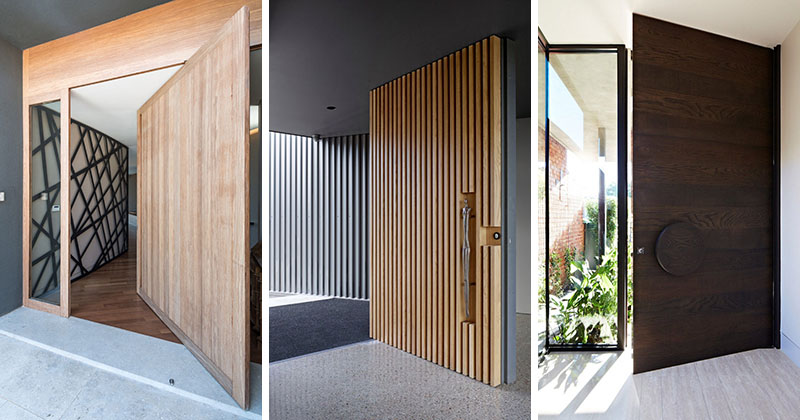 These 13 sophisticated modern wood door designs add a warm welcome contemporist - Sophisticated black interior doors ...