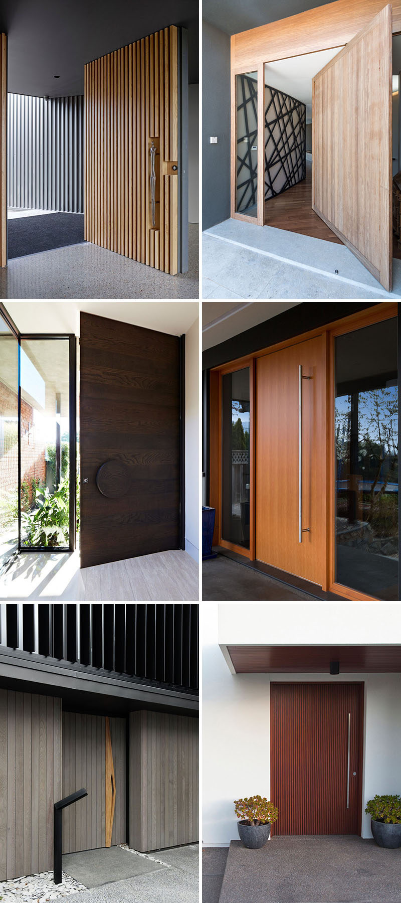 Doors Design: These 13 Sophisticated Modern Wood Door Designs Add A Warm