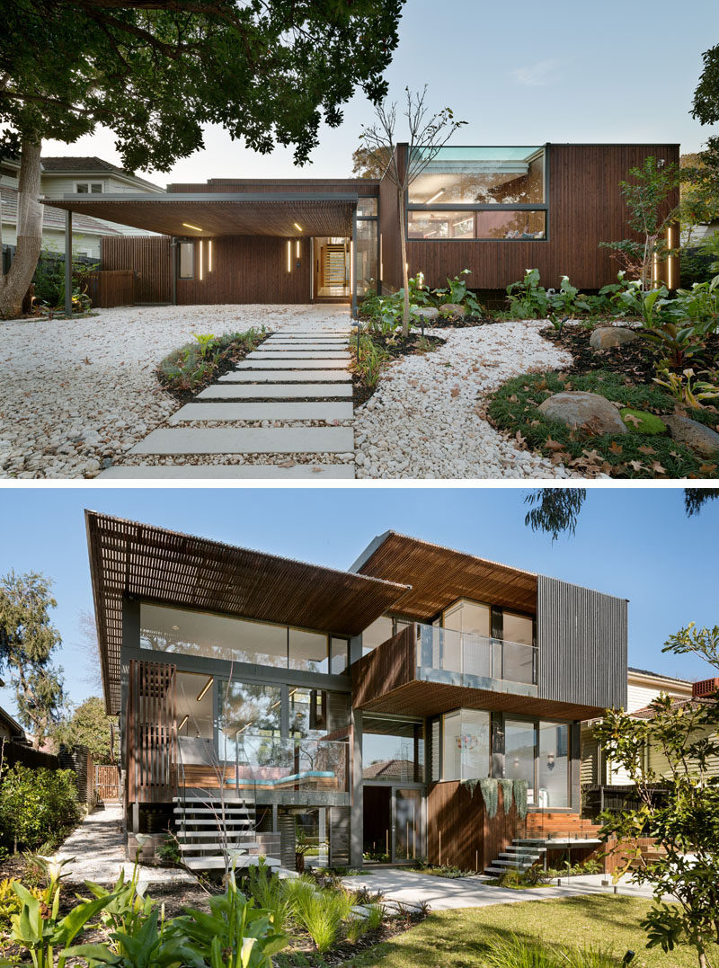 Designed to appreciate and take advantage of the beautiful Australian landscape, this home in Melbourne created by Zen Architects, features large windows, natural wood elements, and homey touches.