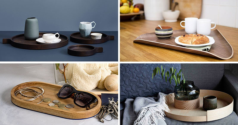 Modern wood trays are a great way to bring in a natural wood look and add warmth to your home decor. Here are 11 examples of decorative wood trays to bring a bit of nature into your home.