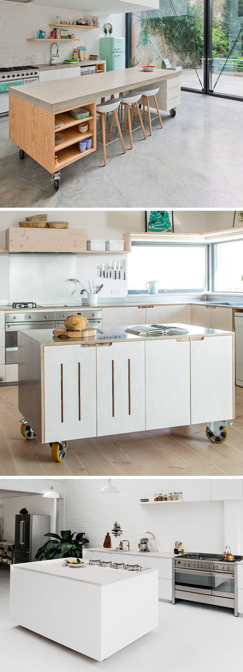 8 Examples Of Kitchens With Movable Islands That Make It ...