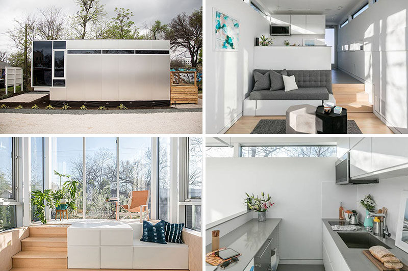 Jeff Wilson has created Kasita, a modern tiny house that measures in at just 352 square feet and can be used as a guest house, office or a studio. #TinyHouse #TinyHome #Architecture #SmallLiving #ModernTinyHouse #SmallHouse