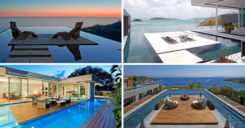 Beautiful Island Platforms In Modern Swimming Pools Takes Party Hosting To The Next  Level. Here Are