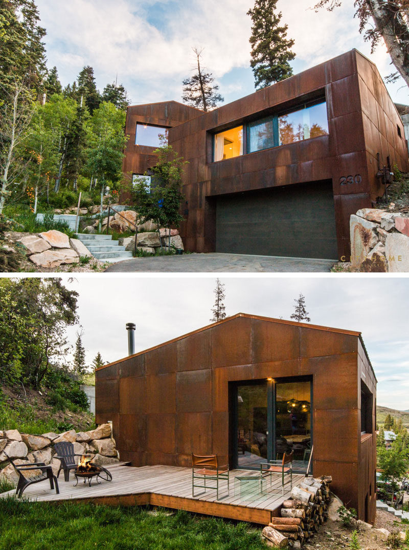 13 modern houses that have weathering steel exteriors Building a house in utah