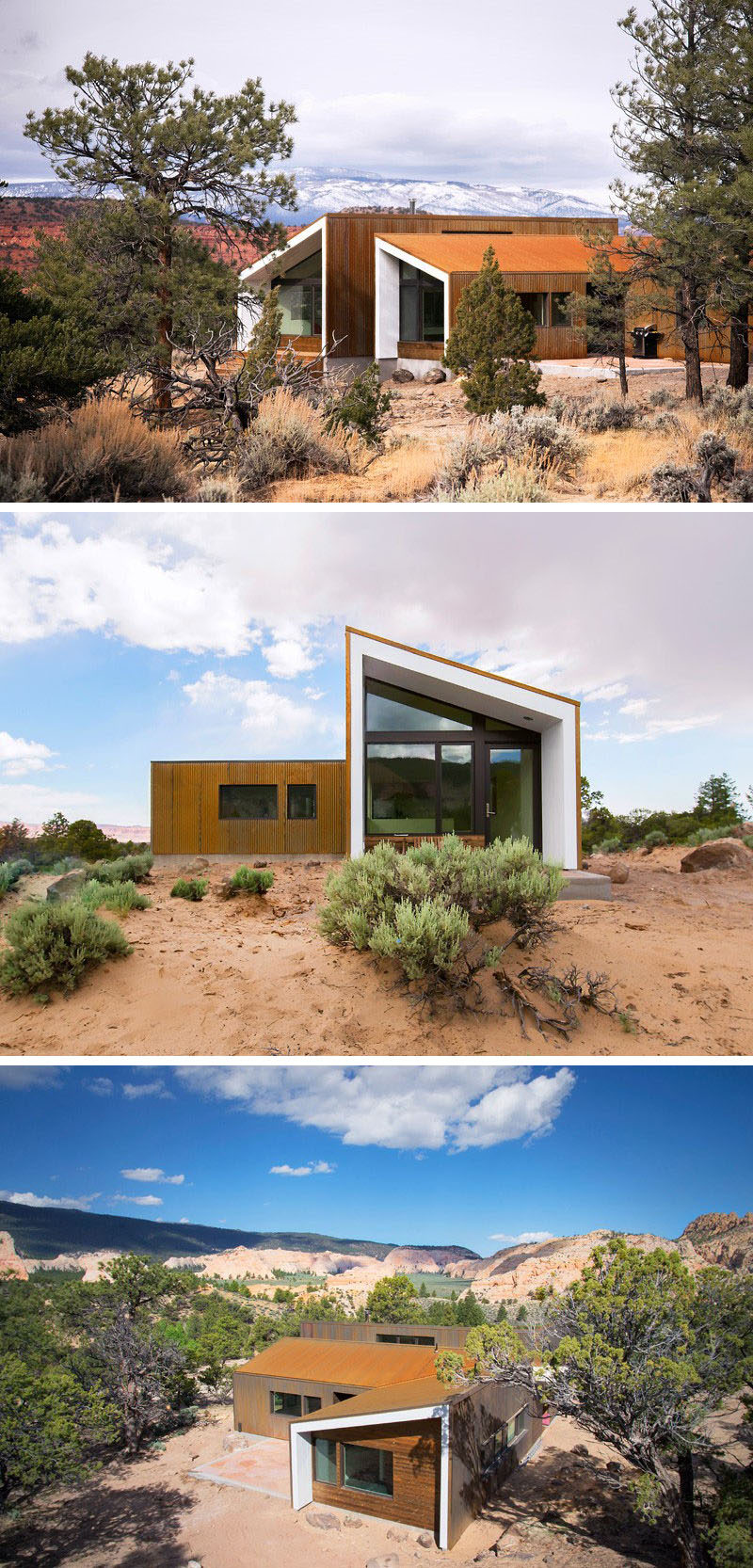 13 modern houses that have weathering steel exteriors for Modern home design utah