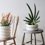 The Design Of These Planters Was Inspired By High Voltage Ceramic Insulators