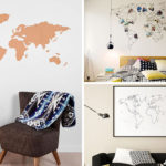 Spectacular DIY Map Art Give you walls a coastal look in minutes City Farmhouse