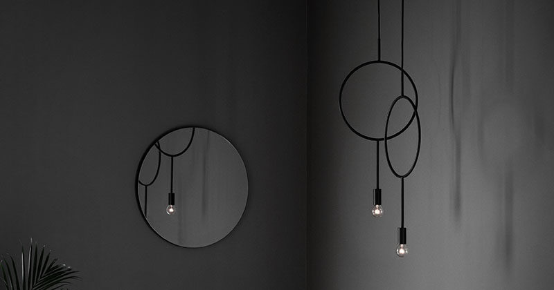Designer Hannakaisa Pekkala has created Circle, a simple modern dark grey pendant light inspired by graphic lines.
